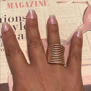 Express rose gold ring